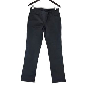 Theory Black Wide Leg Fit & Flare Trouser Pants